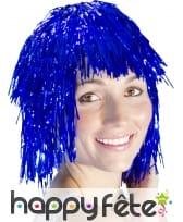 Perruque disco bleu