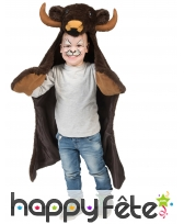 Poncho de bison pour enfant