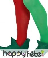 Paire de chaussures d'elfe en feutrine avec grelot