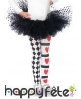 Paire de collants arlequin reine de coeur enfant