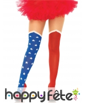 Paire de collants drapeau USA