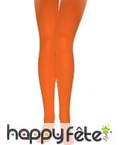 Paire de collants orange opaques, image 1