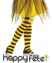 Paire de collants rayés abeille pour enfant