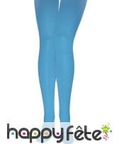 Paire de collants turquoise opaques, image 1