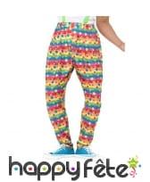 Pantalon de clown à pois, multicolore