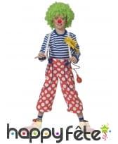 Pantalon de clown rouge à pois blancs pour enfant