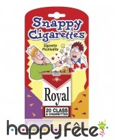 Paquet de cigarettes tape-doigt, farce et attrape