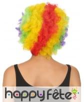 Perruque de clown afro multiclore pour adulte, image 2