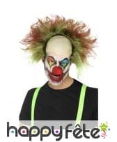 Perruque de clown chauve terrifiant
