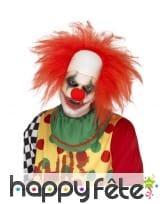 Perruque de clown rouge et chauve