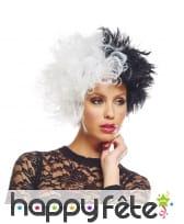 Perruque de Cruella bicolore pour femme