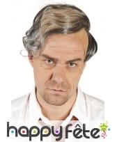 Perruque dégarnie cheveux gris
