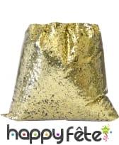 Paillettes dorées d'1mm en sachet