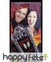 Paire de dents de vampire pour adulte, luxe