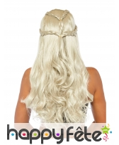 Perruque de Daenerys Targaryen pour adulte, luxe, image 1