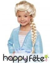 Perruque de Elsa La Reine des neiges 2, luxe