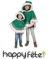 Poncho d'esquimau pour enfant