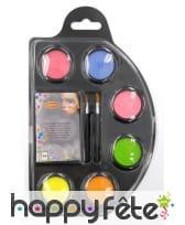 Palette de fards fluo effet UV avec accessoires, image 1