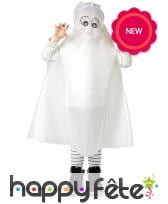 Poncho de fantôme blanc pour enfant