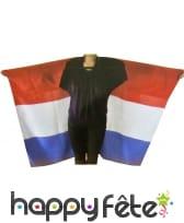 Poncho drapeau francais