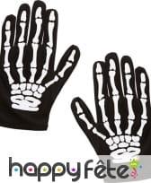 Paire de gants squelette taille enfant