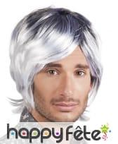 Perruque disco grisonnante pour homme