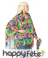 Poncho de hippie coloré pour adulte avec bandeau, image 2