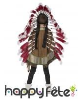 Poncho d'indien marron pour enfant, image 1