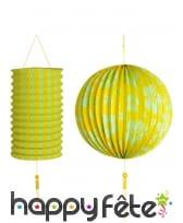 Paire de lanterne sphérique et cylindrique, image 7