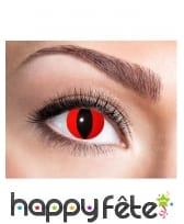 Paire de lentille oeil du diable pour adulte