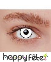 Paire de lentilles blanches contour noir, image 1