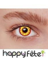 Paire de lentilles jaunes et rouges, image 2