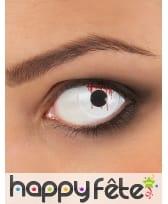 Paire de lentilles oeil blessé en sang