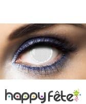 Paire de lentilles quadrillage blanc, image 2