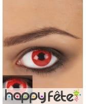 Paire de lentilles UV rouge