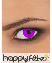 Paire de lentilles violettes unies