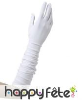 Paire de longs gants blancs de 37cm, image 1
