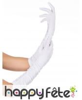 Paire de longs gants blancs de 37cm