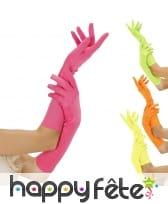 Paire de longs gants fluos de 30cm
