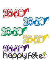 Paire de lunettes 2020 en carton pailletées