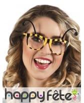 Paire de lunettes abeille