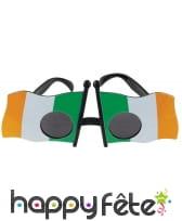 Paire de lunettes drapeau de l'Irlande