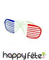 Paire de lunettes rayées bleu blanc rouge