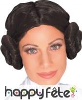 Perruque de la Princesse Leia pour femme