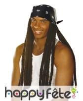 Perruque de longues dreadlocks avec bandana, image 4