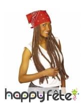 Perruque de longues dreadlocks avec bandana, image 2