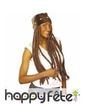 Perruque de longues dreadlocks avec bandana, image 3