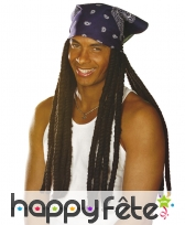 Perruque de longues dreadlocks avec bandana, image 1