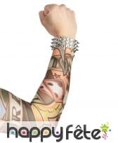 Paire de manches faux tatouages, 42cm, image 1