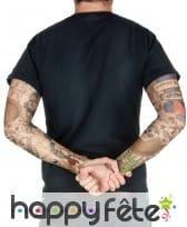 Paire de manches faux tatouages, 42cm, image 3